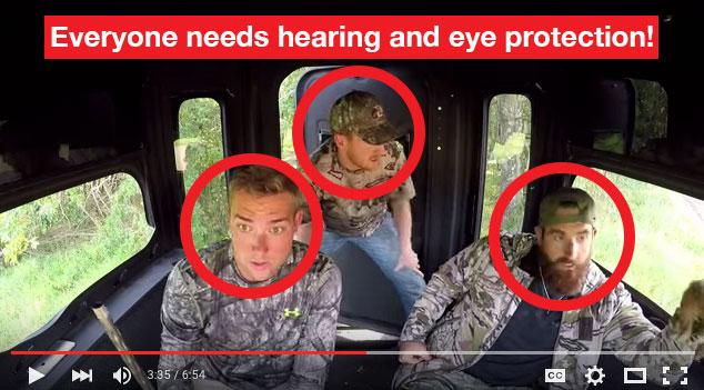 everyone needs hearing and eye protection!